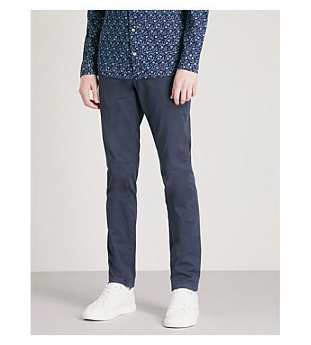 TOMMY HILFIGER Bleeker slim-fit stretch-cotton chinos (Navy+blazer
