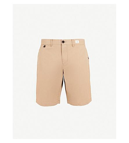 TOMMY HILFIGER Brooklyn tapered cotton-twill shorts (Batique+khaki