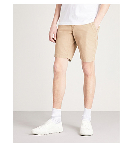 TOMMY HILFIGER Brooklyn tapered cotton-twill shorts (Batique+khaki