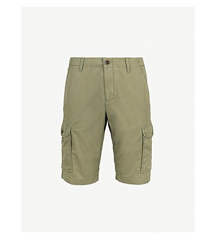 TOMMY HILFIGER Cotton-twill cargo shorts (Four+leaf+clover