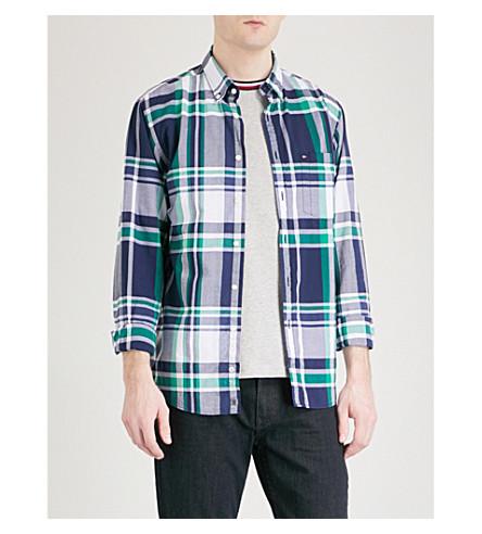 TOMMY HILFIGER Kenzie checked regular-fit cotton shirt (Blue/grn