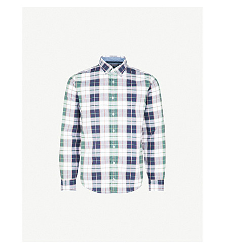 TOMMY HILFIGER Panson checked regular-fit cotton shirt (4+leaf+clover/dusty+rose