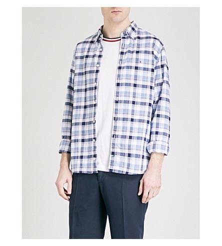 TOMMY HILFIGER Jude regular-fit cotton shirt (Maritime+blue+/+infinity