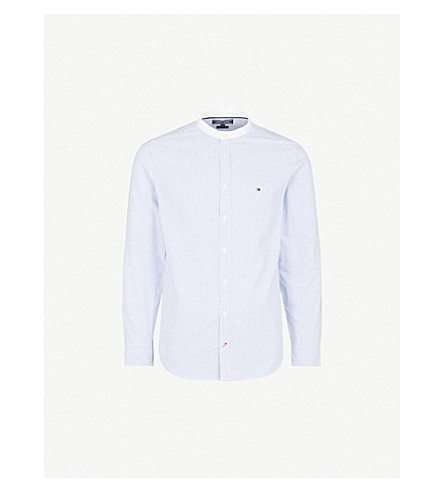 TOMMY HILFIGER Ithaca regular-fit cotton shirt (Blue/white