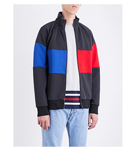 TOMMY HILFIGER Hilfiger Editions Flag cotton-blend track jacket (Flag+black