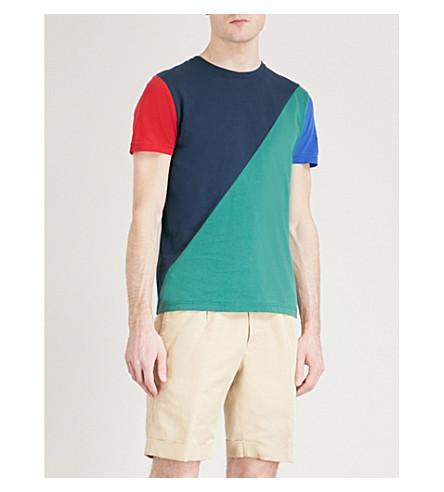 TOMMY HILFIGER Maddock cotton-jersey T-shirt (Navy+blazer