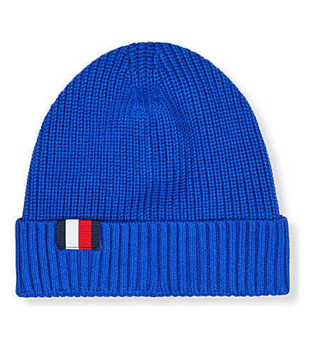 TOMMY HILFIGER Hilfiger Editions knitted beanie hat (Surf+the+web/sky+captain