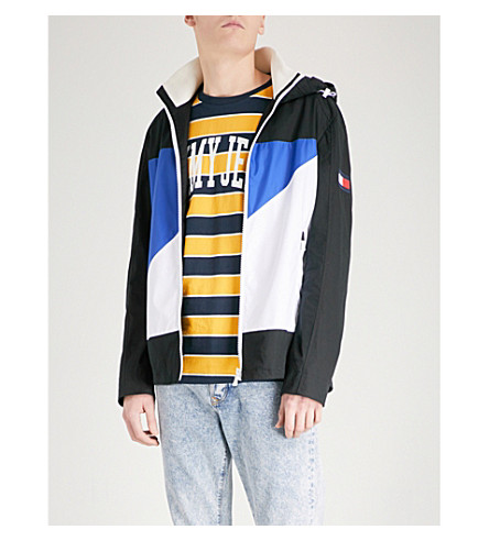 TOMMY HILFIGER Colour block shell jacket (Sky+captain