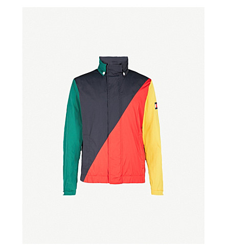 TOMMY HILFIGER Colour block shell sailing jacket (Sky+captain