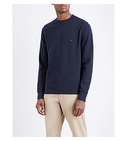 TOMMY HILFIGER Logo-embroidered cotton sweatshirt (Sky+captain