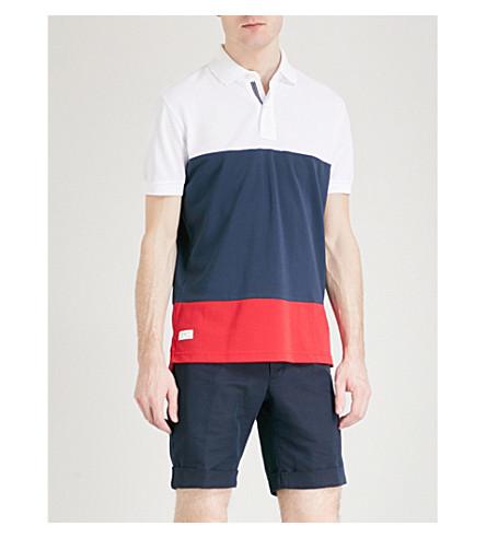 TOMMY HILFIGER Caleb cotton-piqué polo shirt (Bright+white+/+multi