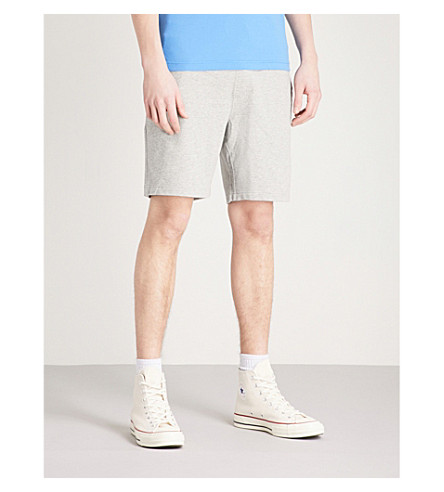 TOMMY HILFIGER Drawstring cotton-jersey shorts (Cloud+heather