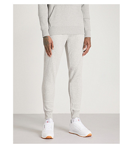 TOMMY HILFIGER Logo-print skinny cotton-fleece jogging bottoms (Cloud+heather