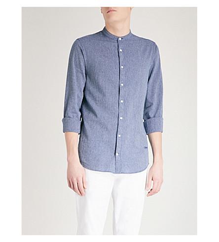 TOMMY HILFIGER Striped slim-fit cotton shirt (Navy+blazer/multi