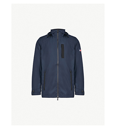 TOMMY HILFIGER Logo-appliqué shell hooded jacket (Sky+captain