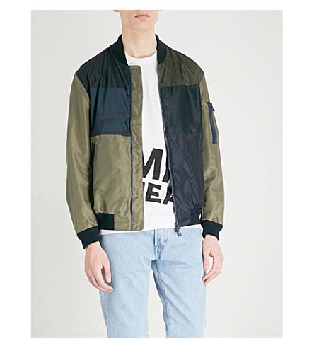 TOMMY HILFIGER Patchwork shell bomber jacket (Navy+blazer
