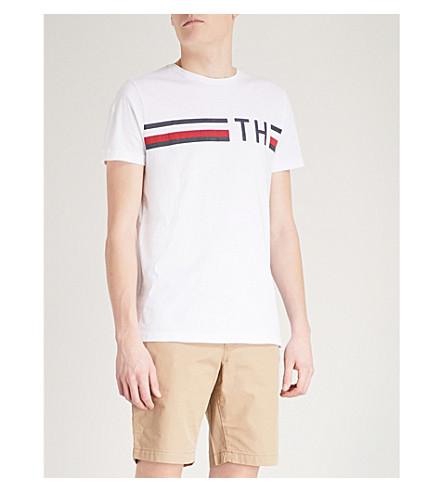TOMMY HILFIGER Logo-print cotton-jersey T-shirt (Bright+white