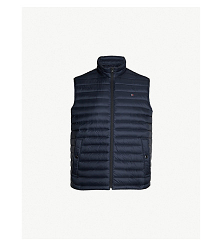 TOMMY HILFIGER Padded shell-down gilet (Blue