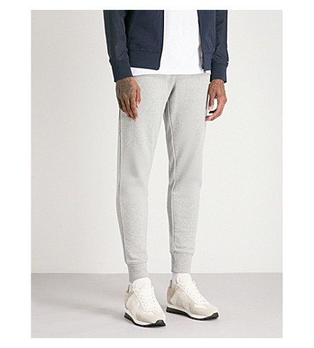 TOMMY HILFIGER Tapered cotton-jersey jogging bottoms (Cloud+heather