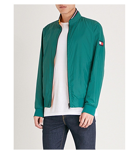 TOMMY HILFIGER Reversible shell bomber jacket (Forest+biome