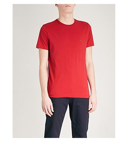 TOMMY HILFIGER Logo-print cotton-jersey T-shirt (Haute+red