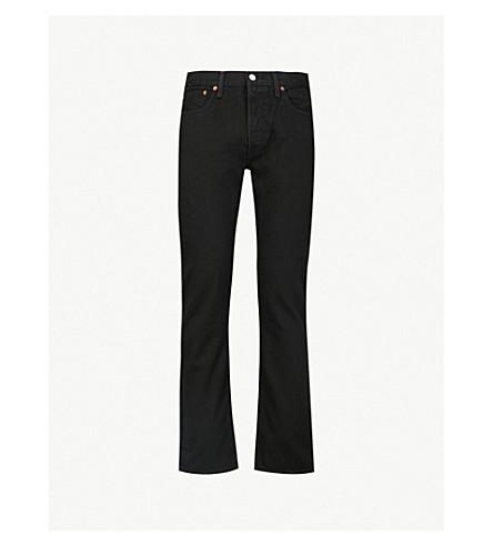 LEVI'S501原始直中升牛仔裤 (黑色