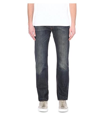 LEVI'S 501 regular-fit mid-rise jeans (Dusty+black