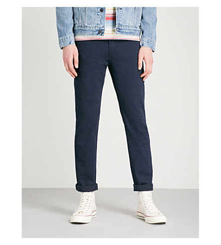 LEVI'S 511 slim-fit tapered jeans (Nightwatch+blue+bi-str