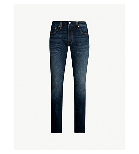 LEVI'S 511 slim-fit stretch-denim jeans (Ama dark vintage