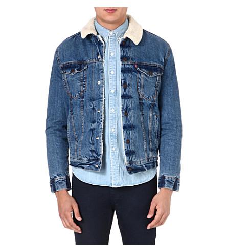 LEVI'S Sherpa denim jacket (Blue