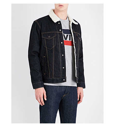 LEVI'S Sherpa Trucker denim jacket (Raw+power