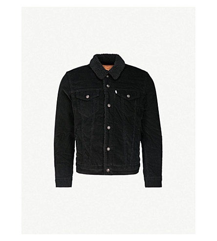 LEVI'S Type III Sherpa Trucker corduroy jacket (Black cord better