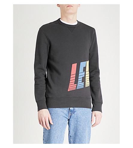 LEVI'S Graphic cotton-blend sweatshirt (Dark+phantom