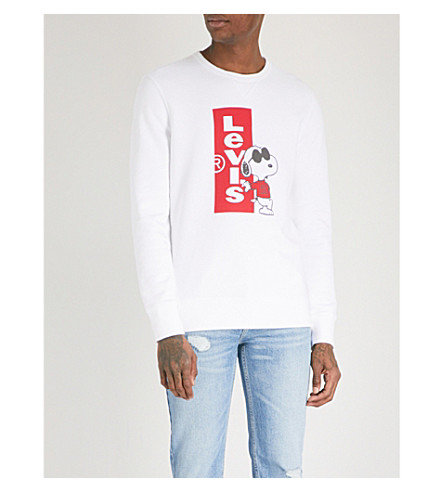 LEVI'S Snoopy cotton-blend sweatshirt (Redtab+crew+white