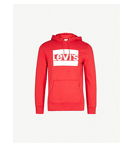 LEVI'S Graphic logo cotton-jersey hoody (Chinese+red