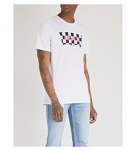 LEVI'S Housemark cotton-jersey T-shirt (Hm+ssnl+fill+white