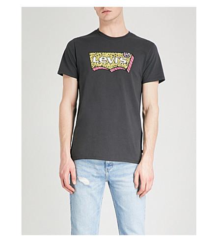 LEVI'S Hallmark logo-print cotton-jersey T-shirt (Dark+phantom