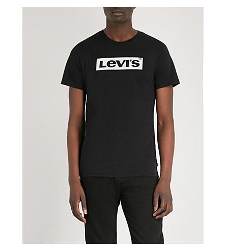LEVI'S Logo-print cotton-jersey T-shirt (Levis+logo+black