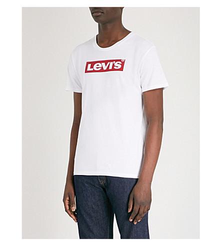 logo con blanco Levis LEVI'S de Camiseta jersey algodón punto Logotipo de 6nwTCS0Tq