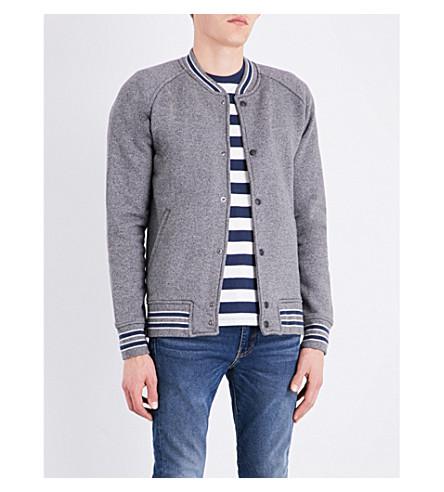 LEVI'S Fleece cotton-blend bomber jacket (Owl+grey+htrh