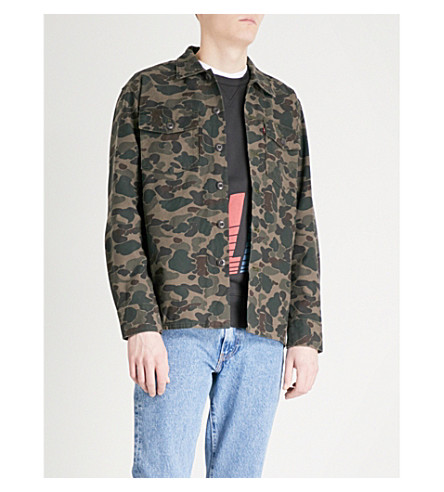 LEVI'S Camouflage-print cotton shirt jacket (Camo