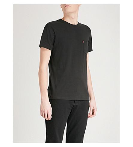 LEVI'S 标志点缀棉泽衫 t恤衫 (黑色