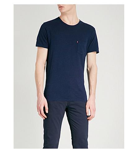 LEVI'S Sunset patch-pocket cotton-jersey T-shirt (Saturated+indiigo