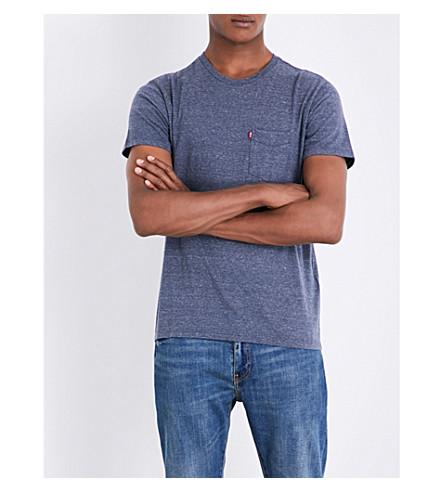 LEVI'S Sunset marl-effect cotton-blend T-shirt (Ombre+blue+heather