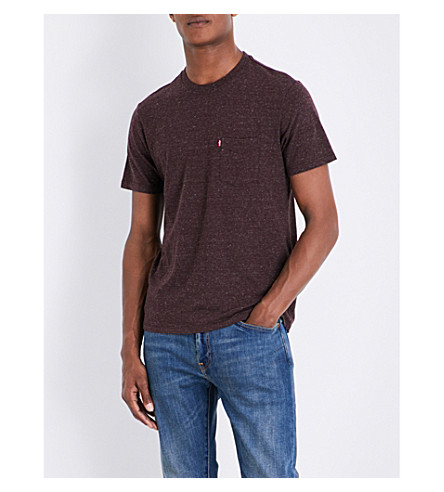 LEVI'S Sunset marl-effect cotton-blend T-shirt (Puce+tri-blend