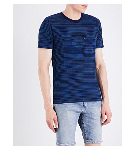 LEVI'S Sunset striped cotton-jersey T-shirt (Minor+stripe