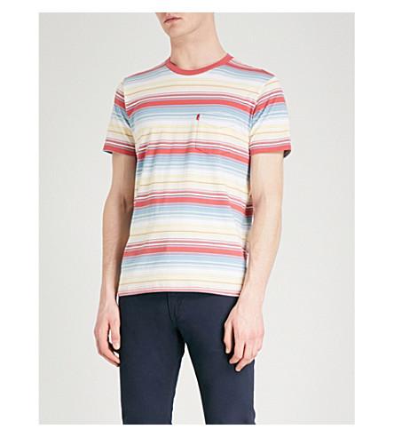 LEVI'S Sunset striped cotton-jersey T-shirt (Fiesta+stripe+allure
