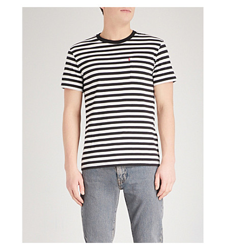 LEVI'S Sunset striped cotton-jersey T-shirt (Cooler+stripe+blk/marsh