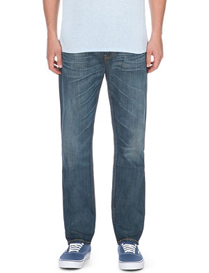 LEVI'S 504 faded regular-fit straight jeans