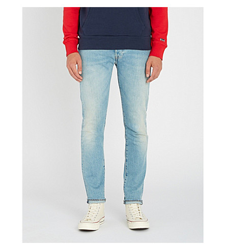 LEVI'S 501 slim-fit skinny jeans (West+coast+str